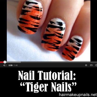 Tiger Nail Art. For next season!!