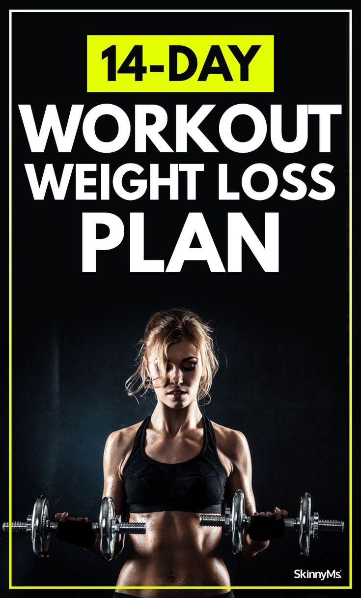 14-Day Workout Weight Loss Plan. Start today! #weightloss #fitness #program