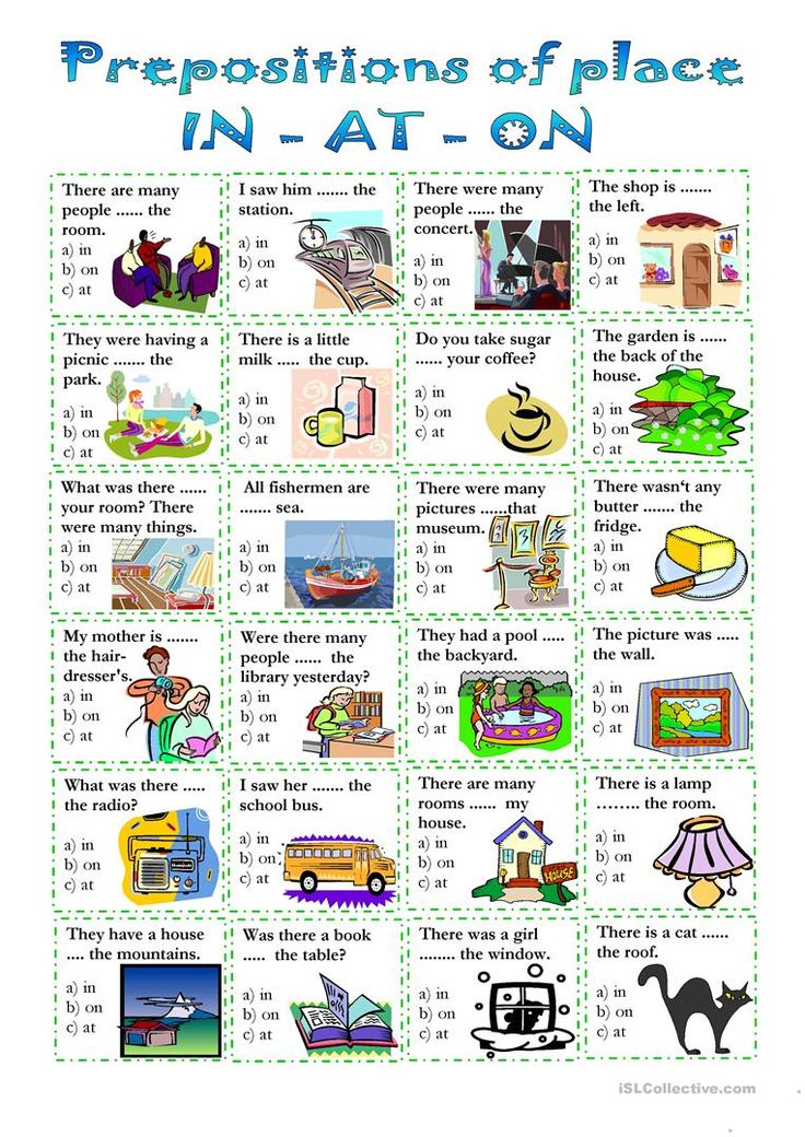 prepositions of place worksheet Free ESL printable