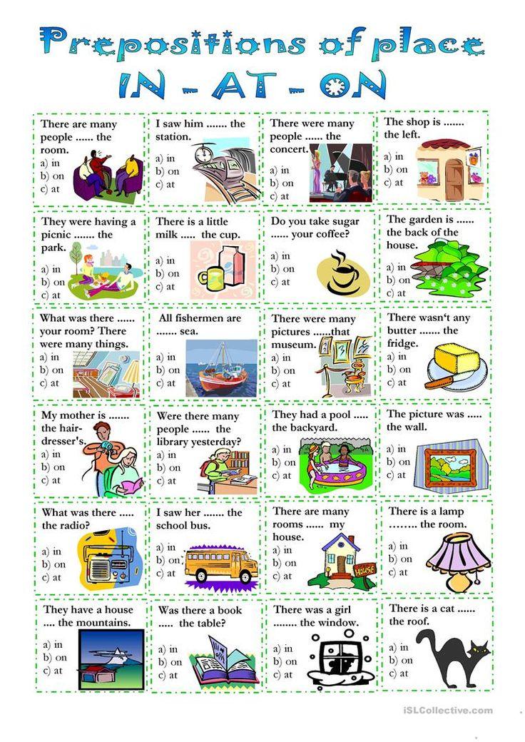 Prepositions of place (1). prepositions Gor Pinterest