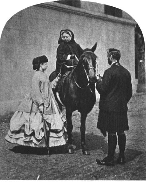 Queen Victoria, Princess Louise And Her Outdoor Servant John Brown, (1863)