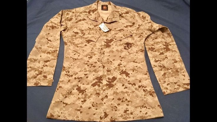 NWT!! USMC Desert MARPAT Camo Men's Blouse Shirt, Size Small - Long  | eBay