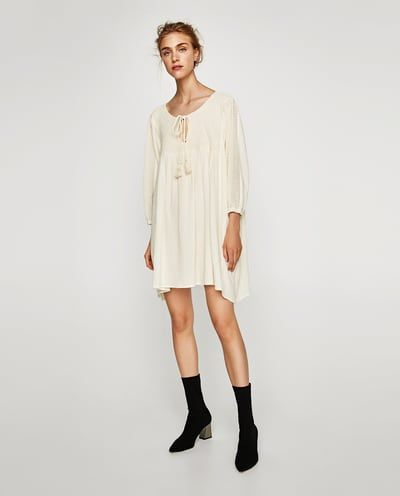 d3aa75a2 COMBINED OVERSIZED TUNIC-View All-DRESSES-WOMAN-SALE | ZARA United States