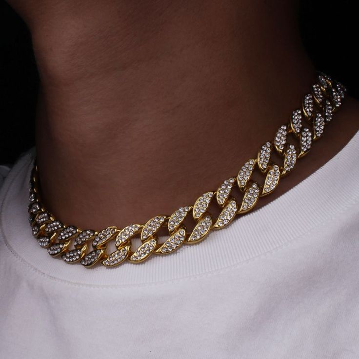 Details About Cuban Chain Ice Out 16 Lnch Gray Gold Details About Cuban Chain Ice Out 16 Lnch Gray Gold About Accesoriesjewelry In 2020 Schmucktrends