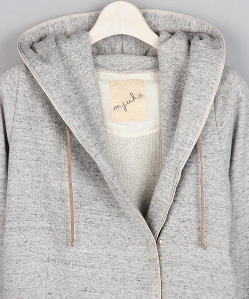 ホック付きパーカー|カットソー・インナー | mjuka(ミューカ)|シンプルでナチュラルなレディースファッションならレイカズン公式通販