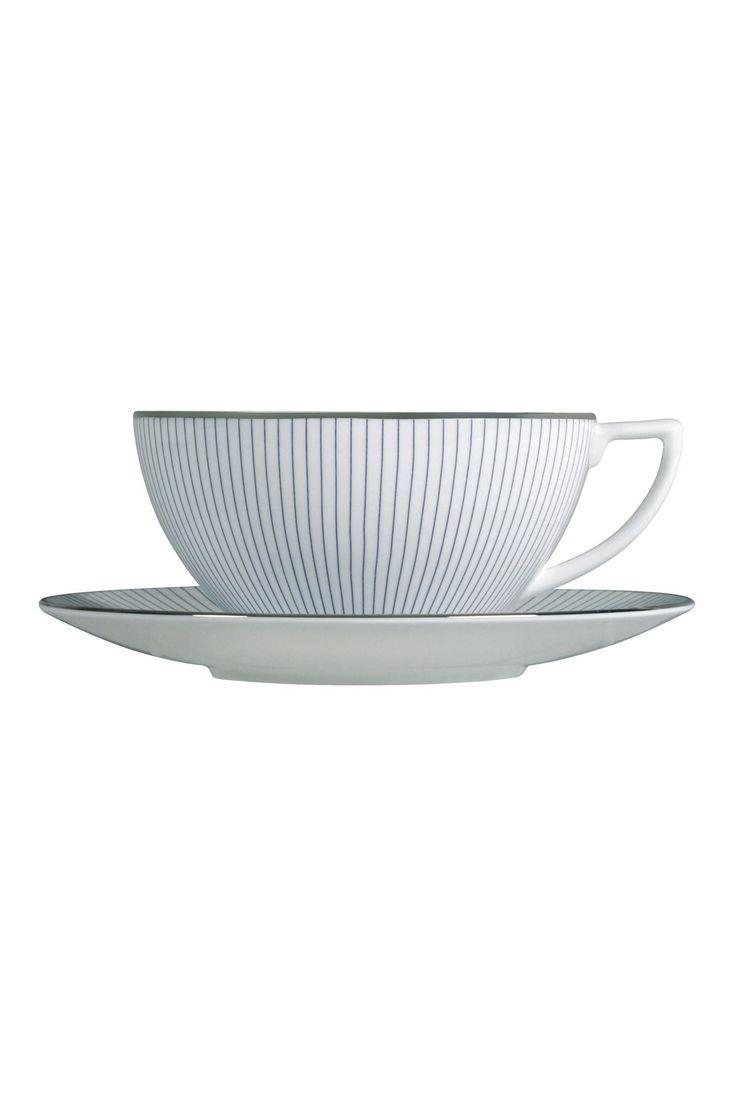 'Pinstripe' Tea Saucer - Jasper Conran By Wedgwood - Smith & Caughey's