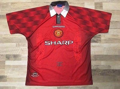 Manchester United Umbro soccer jersey Mens XL red Sharp | eBay