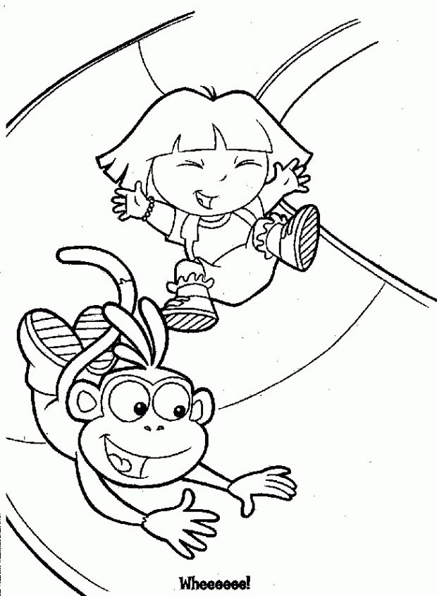 printable dora the explorer coloring pages - Printable Dora The Explorer Coloring Pages