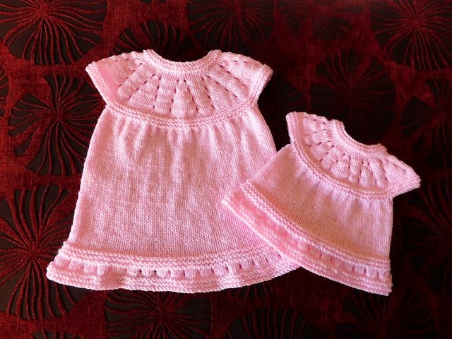 161251a4de38 Free Pattern Ravelry  Lazy Daisy All-in-One Baby Dress pattern by ...