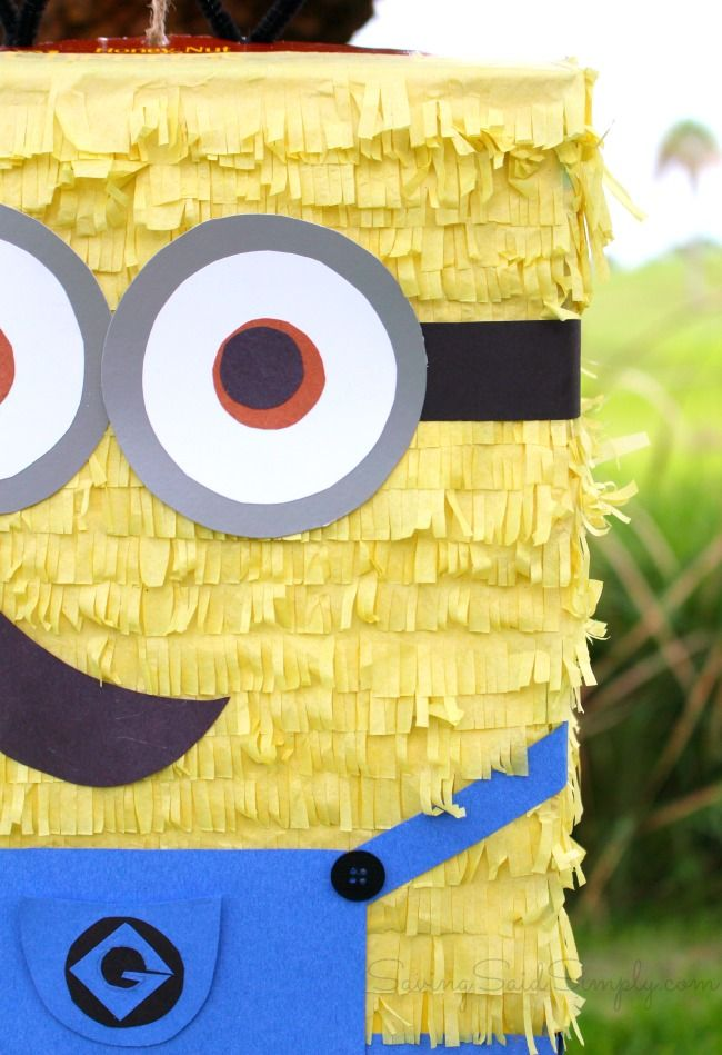 DIY Minion Pinata | Upcycled pinata made from cereal box for only $5!