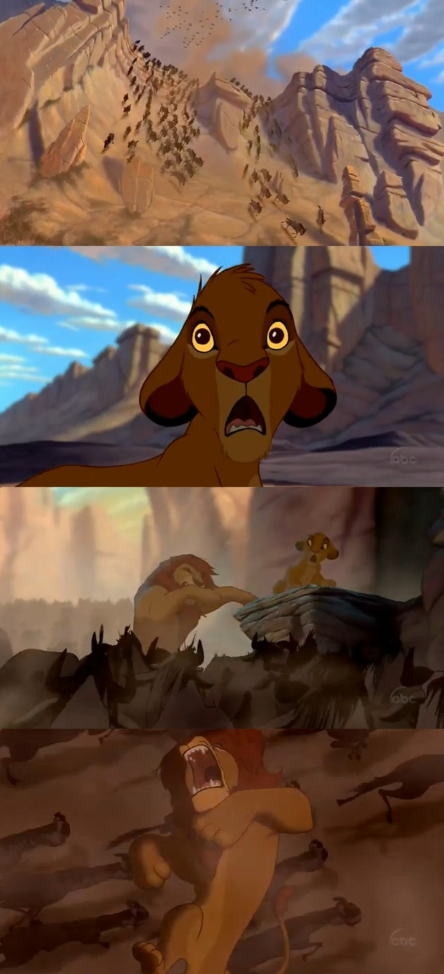 Day 8 saddest moment Mufasa's death, im such a baby that I cry through this scene every time I watch it :(