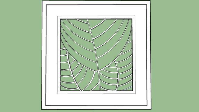 Quadro vasado folhas - 3D Warehouse