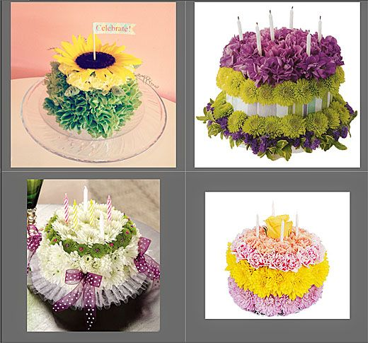 cake flowers with icing
