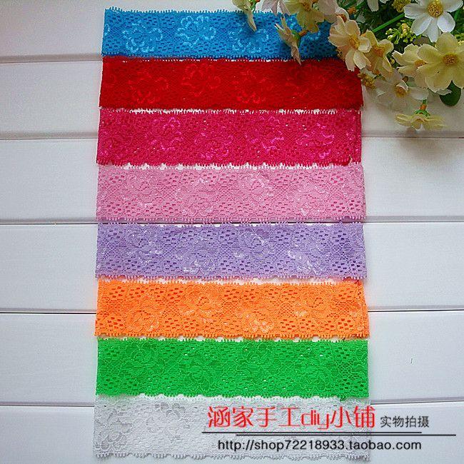 3,5 * 18см детские конфеты цвета кружева детские эластичные ленты аксессуары лук волос ручной работы для поделок материалов - Taobao