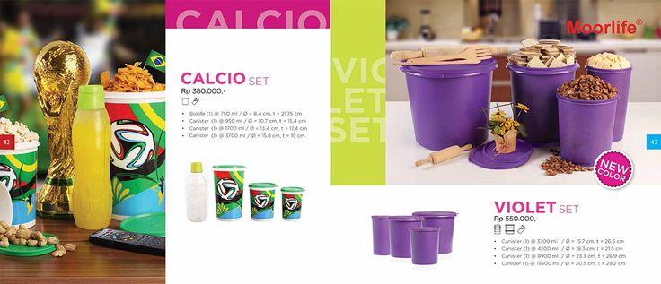 Moorlife Calcio set (380.000) dan Moorlife Violet Cannister Set (550.000) Harga diatas belum termasuk discount