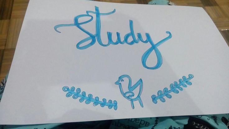Handlettering Study Cocok ditaruh kamar anak supaya semangattt belajar😘😇😚
