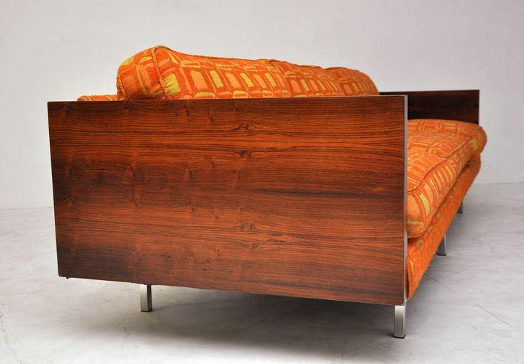 Milo Baughman Rosewood Case Sofa | From a unique collection of antique and modern sofas at https://www.1stdibs.com/furniture/seating/sofas/