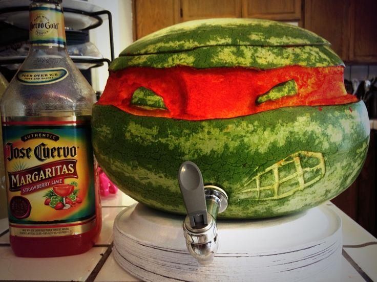 Margaritas in a half shell turtle power delicious idea