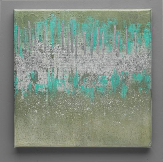Wall Art 12x12 Oil Fine ArtContemporary Art Abstract by SEMELART