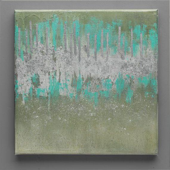 Wall Art 12x12 Oil Fine ArtContemporary Art Abstract by SEMELART