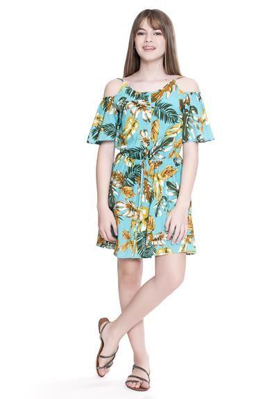 c5c030ee1ccc0 FABRICANTE  Amofany Coleção LARISSA MANOELA CÓD  T600221 - vestido teen  floral ombro vazado larissa