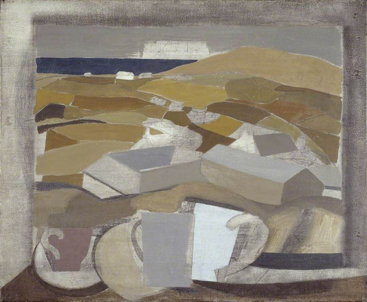1946 (window in Cornwall) by Ben Nicholson Date painted: 1946 Oil, pencil, charcoal & surface scratching on canvas, 49.5 x 59.7 cm