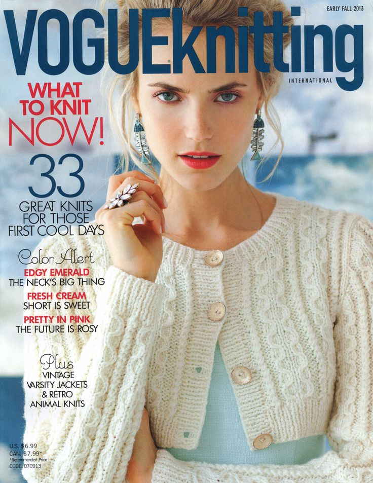 VOGUE KNITTING - EARLY FALL 2013 (download: Pulli mit Netz-Fledermausärmeln, Laceschal dünn/dick)
