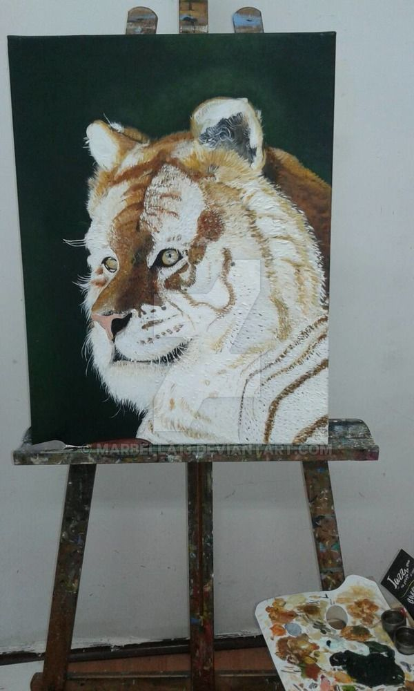 Oil painting textured painting Ana Lemos