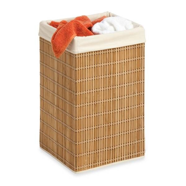 Photo Gallery In Website Honey Can Do Square Wicker Hamper with Liner in Bamboo Wicker HamperBathroom FurnitureBathroom