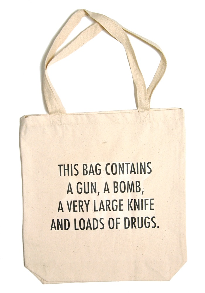 that should do the trick: Diapers Bags, Travel Bags, Awesome, Grocery Bags, Totes Bags, Funny, Planes, Airports Security, Carrie On Bags