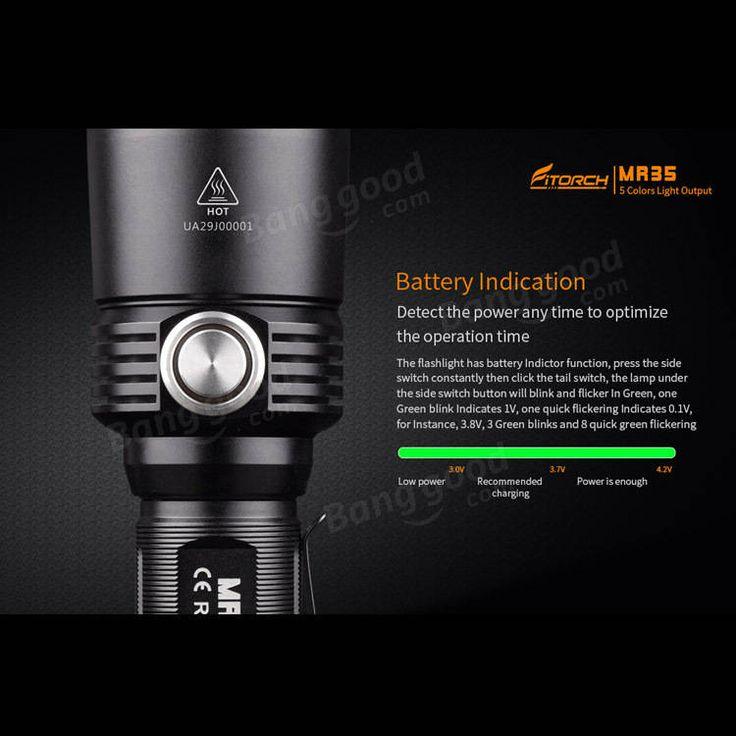 Fitorch MR35 XP-L2 1200Lumens 5lightcolors Rechargeable Portable UV LED Flashlight Sale - Banggood.com