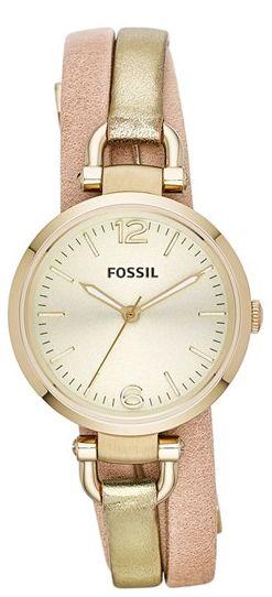 Metallic wrap watch #fossil