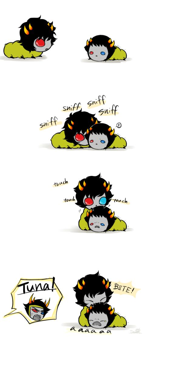 Tuna seeing Sollux for the first time .... I think their meeting went well