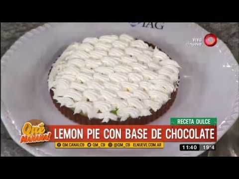 Receta dulce: lemon pie con base de chocolate