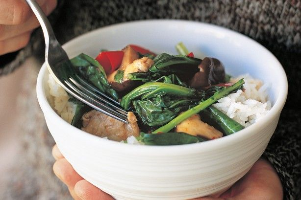 The secret to perfect stir-fries lies in remembering the wok cooks quickly at very high temperatures. All that's required is a quick sizzle, a little shake and a gentle stir for this aromatic vegetarian feast.