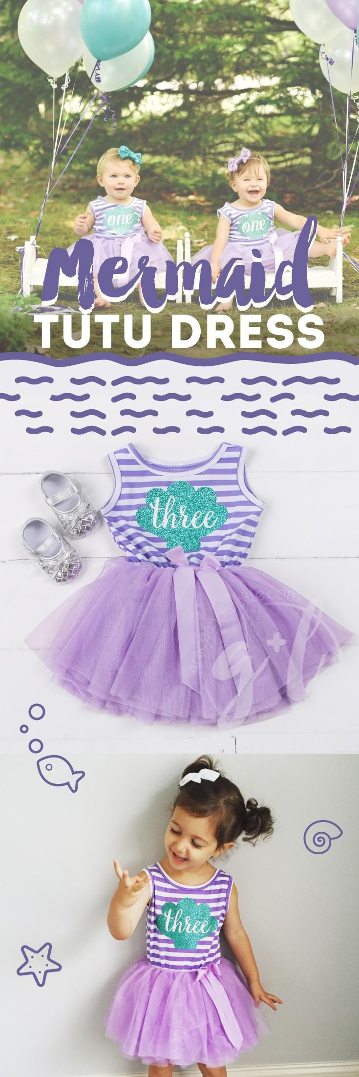 A mermaid birthday party isn't complete unless the guest of honor wears her Grace and Lucille mermaid tutu dress!
