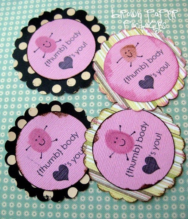 They will be perfect for friends, neighbors, teachers, and visiting teachers, especially attached to a fun treat--in a bag, box, or wrapped around a bar of chocolate or other candy.    You can always change the wording for school valentines...{thumb} body likes you, or {thumb} body wants to be your valentine--or anything you like!