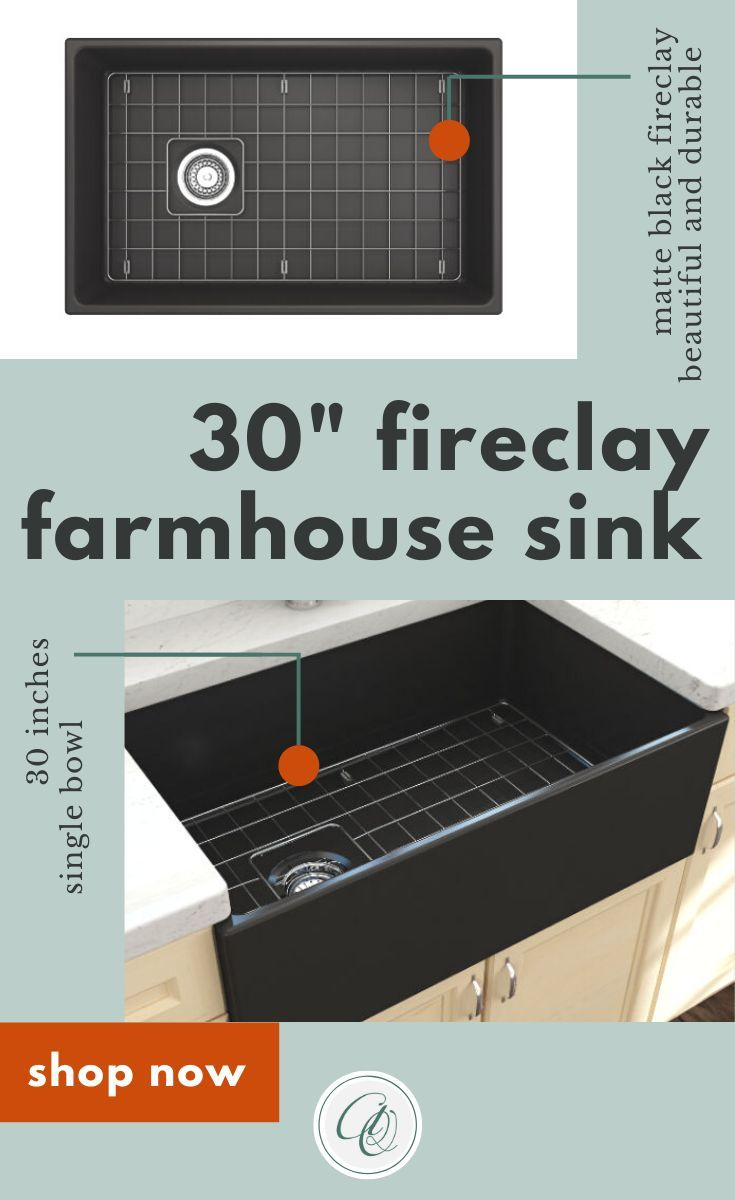 Bocchi Contempo 30 Matte Black Fireclay Single Bowl Farmhouse Sink W Grid In 2020 Farmhouse Sink Farmhouse Sink Installation Fireclay Farmhouse Sink