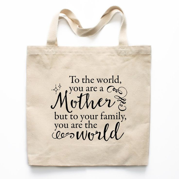 A Mother Is The World Canvas Tote Bag - Mother's Day Tote Bag, Mother's Day Gift, Gift for Mom, Gift Ideas for Mom, Tote Bag for Mom, Birthday Gift for Mom, Christmas Gift for Mom, Xmas Gift for Mom, Mom Birthday Gift, Mom Christmas Gift, Canvas Tote Bag for Mom