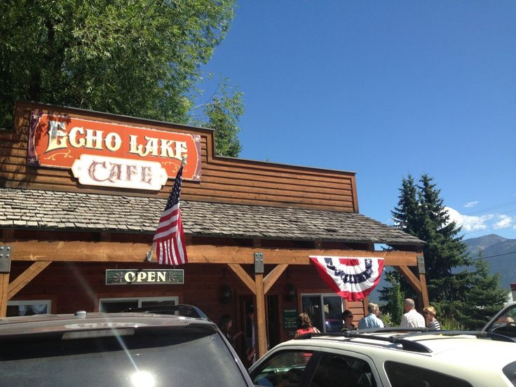 Echo Lake Cafe outside of #BigFork #Montana - best breakfast and amazing patio setting in the mountains!