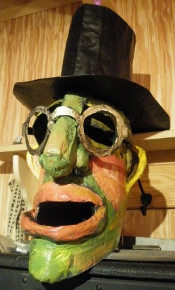 Jane Filer, an extraordinary local painter, was kind enough to let me visit her studio when she was getting ready to make a new giant head. She...
