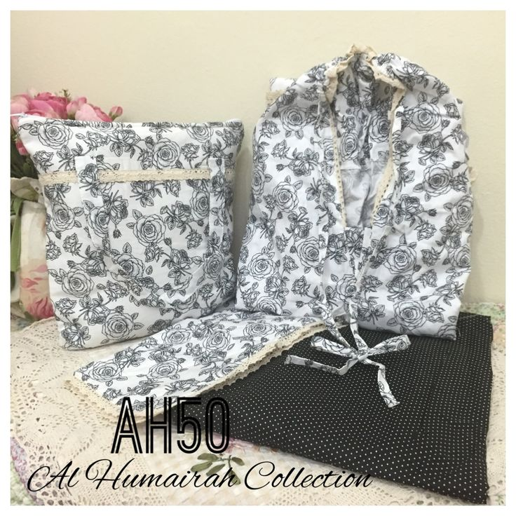Al Humaira Telekung Cotton – AH50  RM150.00  – Telekung cotton with printed design  – Special vintage style design  – Japanese cotton material  – Face size up to L size  – Set includes beautiful handmade bag & mini sajaddah  – Limited pieces  http://www.telekung.co/product/ah50/