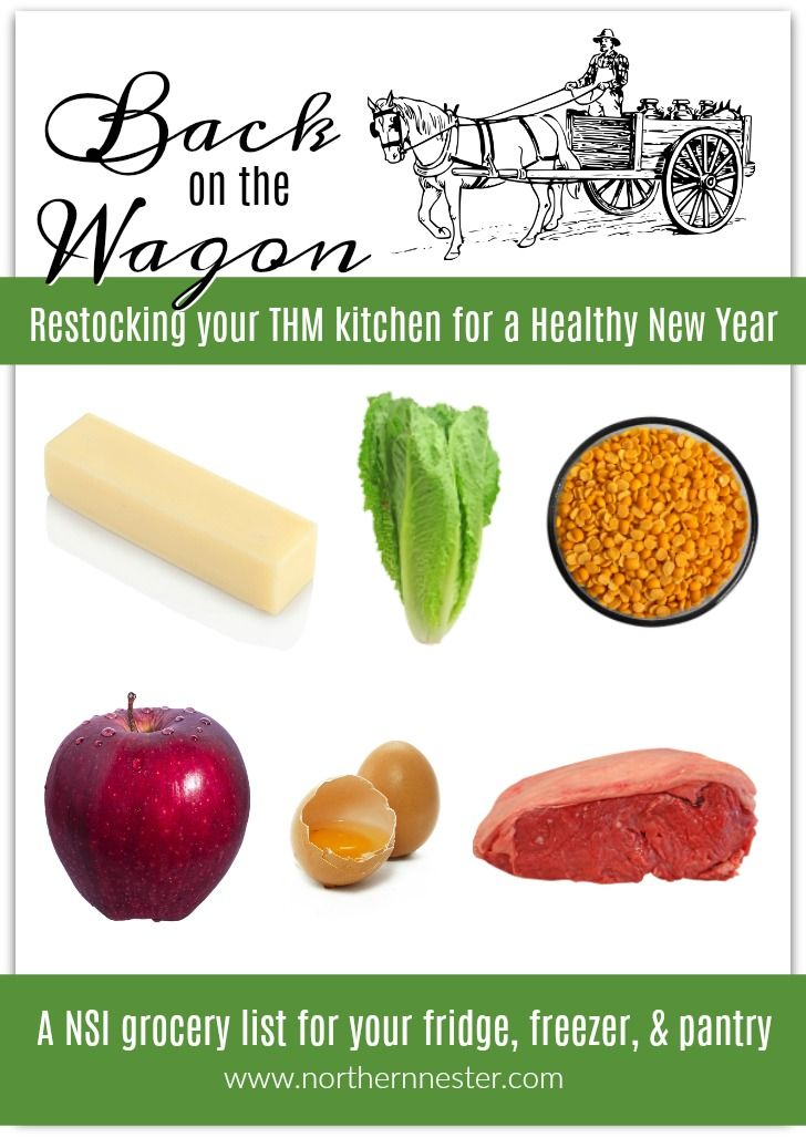 A THM grocery list for your fridge, freezer, and pantry