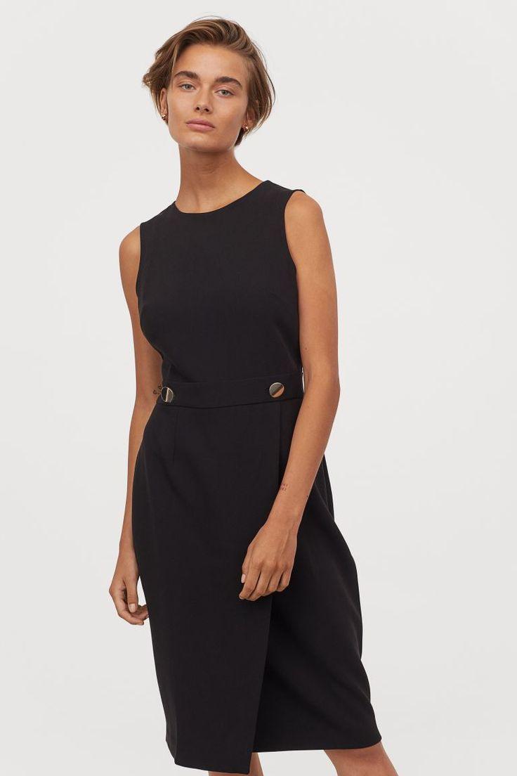 tailliertes kleid - schwarz - ladies | h&m de | taillierte