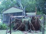 Large tree down and damaged home near Birmingham Airport. #hurricaneivan, #CabinetHardware.org, #hurricane