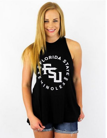 Show off your Florida State spirit with style in this tank!