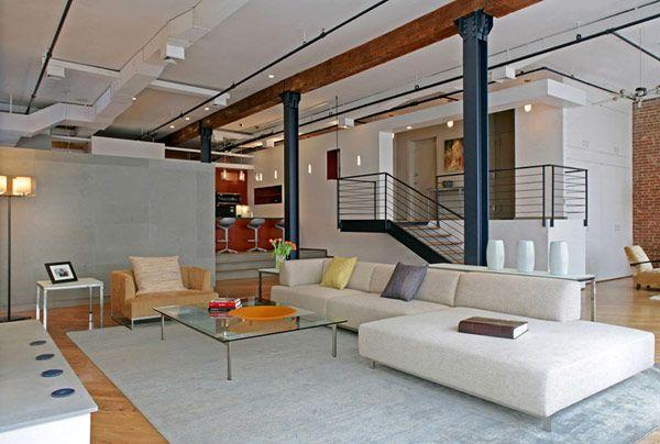 NY loft. Just my style. Via freshome