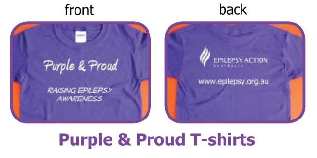 Epilepsy Action Shop - purple and proud t-shirts!!