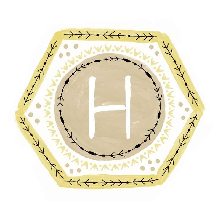 """Hadley"" Geometric Initial Print Series - available personalized with any initial  - as 8 x 10 [ rectangle ] or 8 x 8 [ square ]  - a gift for your home or a friend! (engagement, wedding, baby shower, kids room etc.) by Cece"