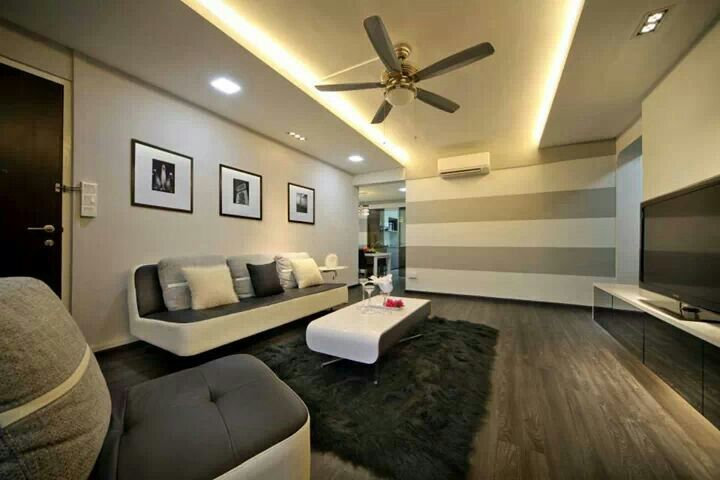 Partial false ceiling lighting ideas for the house - False wall designs in living room ...
